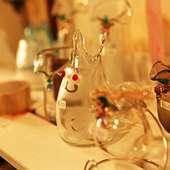 店内では、ガラス工房すみれさんのガラス細工も販売しています。