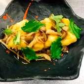 キノコたっぷり秋の揚げ出し豆腐