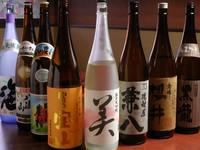 日本各地からの地酒・地焼酎をご用意しております。