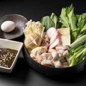 八丁味噌の味わいが、素材を際立たせる『名古屋コーチン味噌すき(2人前~)』