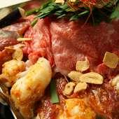 たっぷりの野菜と肉が食べられる『ちりとり鍋/味噌ベース 1人前』