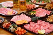 和牛焼肉がたっぷりと愉しめるコースです。定番のお肉や希少部位までお召し上がり頂けます。