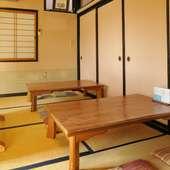 個室での宴会や会食も可能。ごゆっくりお過ごしください。