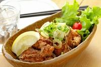 朝びき新鮮モモ肉の『大山鶏の唐揚』