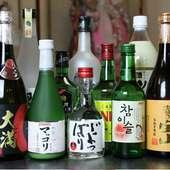 大人気マッコリ他、韓国酒も豊富に取り揃えております