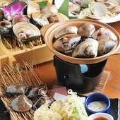 桑名名物の天然はまぐりを使った料理を多くご用意しています!