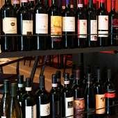 本場ナポリのワインや、他ドリンクも各種ご用意しております。