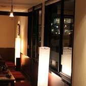 2~4名の半個室テーブル席と10~40名までのお座敷個室あり!