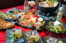 全12品の宴コースに珍味と串焼きを+した豪華絢爛コース。