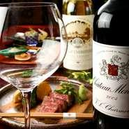 ワイン、日本酒をはじめ、様々なお飲み物をご用意しております。お料理と一緒にお楽しみください。