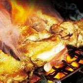備長炭で焼き上げた『炭火串焼き5本盛合せ』
