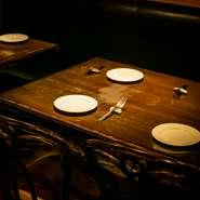 イタリア・フランス・スペインの田舎をイメージしたテーブル席を種類豊富にご用意しております。大宮での宴会・歓迎会・送別会にピッタリなテーブル席を完備。大宮でのパーティは【タパス】におまかせください!