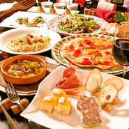 結婚パーティ・結婚式2次会・各種パーティにおすすめ!当店自慢の種々のワインとともにお愉しみください。