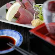 和食料理25年の大将が厳選した新鮮なお刺身も食べられる! プリプリで弾力のある食感を楽しんでください