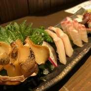 季節の鮮魚盛り合わせ 約4種類
