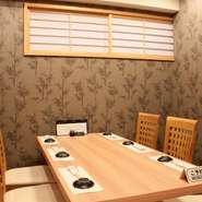 接待や会食に最適。和モダンのおしゃれな完全個室