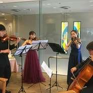毎月定例の京都市立芸術大学音楽学部の学生による、クラシックコンサートのサロンです。  日時     10月27日(火)   プログラム        弦楽四重奏        参加費 2.000円(ランチ、コンサート、税込)         13:00~ランチコース         14:30~コンサート