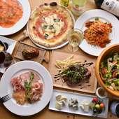 ピッツァの他にも美味しいメニューがいっぱい