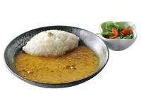 ・サラダ・豆のサラサラスープカリーライス