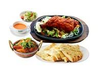 ・サラダ・タンドリーチキン・スープ・カリー(メニューから選べます)・ナン(メニューから選べます)