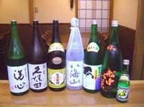 日本酒、充実のラインナップ