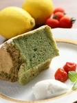 自家製ほうれん草のシフォンケーキ