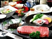 神戸牛シャトーブリアンステーキとフォアグラ鉄板焼きを合わせ,トリュフ香るロッシーニ風に仕上げました!