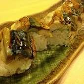 【和処 さゝ木】の看板メニュー『焼きサバの棒寿司』