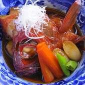 その日の食材で決まる『今日の煮魚(金目鯛の煮つけ)』