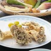 秋の山菜天ぷら