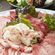 特におすすめの肉を盛り合わせにしました。上質な焼肉をお楽しみください。