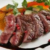 鹿児島県産黒毛和牛A5ランクの鉄板料理