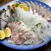 地元の漁師から仕入れた、旬の天然地魚がぞんぶんに味わえます