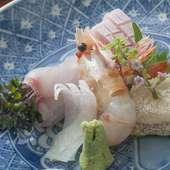 活きのいい地場の鮮魚で『旬の地魚御造里』