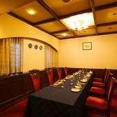 個室席は6名~12名様ご用意。 接待、会食、宴会にお勧めです