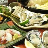 一年を通してお楽しみ頂けます。広島の味・かきを様々な調理法でたっぷりとご堪能ください。
