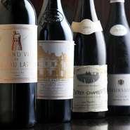 厳選されたワインも40~50種類。チョイスの基準は、もちろんフレンチに合う、料理に合うものです。