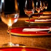 お料理に合うワインを多数取り揃えてあります