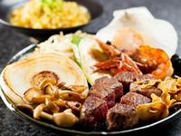 【北風】自慢の『牛ステーキ』(焼き野菜付き)