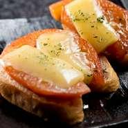 調理のタイミングの難しい『トマトチーズ』など、シェフの熟練した腕で、食材そのものの旨味を味わえます。