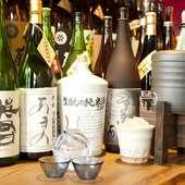 和食に合う焼酎、日本酒を多数用意しています