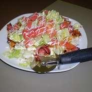 ベーコン・レタス・トマトピザ。