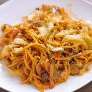 昔食べた懐かしいスパゲッティを友添風に再現しました。