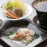 身を食べた後は、ホタテの殻を鍋代わりにして、だし汁とご飯にバターを溶かして食べるシメも大好評です。