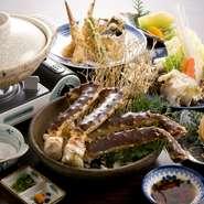 ※その他、刺身、天ぷら、しゃぶしゃぶなども致します ※かにの足焼きは1本より注文出来ます ※コース料理はお2人様より承ります
