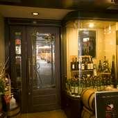 上通りの一角。上質なステーキとワインをお楽しみいただけます