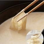 豆乳のまろやかさでとってもやさしい味わいに。きのこやお野菜をたっぷり楽しみたい方にオススメです。