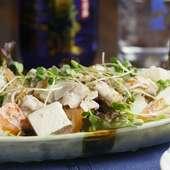 ボリューム満点『島豆腐と豚しゃぶのサラダ』