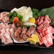 サムギョプサル/和牛カルビ/上ロース/上ハラミ/若どり/ごはん (お2人様用 お肉470g) 会員価格4200円