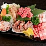 極上牛タン塩/特選ロース/和牛カルビ/ホルモン/若どり/焼き野菜/ごはん (お2人様用 お肉500g) 会員価格5300円